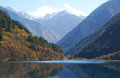 Lake of jiuzhaigou rhinoceros in autumn Royalty Free Stock Photos