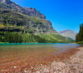 Lake Josephine, Glacier National Park, Montana Stock Photography