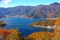 Lake kawaguchiko in Autumn Royalty Free Stock Photo