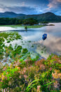 Lake in killarney boats on water national park republic of ireland europe Stock Images