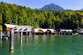 Lake konigssee looking over the water at in germany Royalty Free Stock Photography