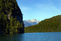 Lake konigssee looking over the water at in germany Royalty Free Stock Image