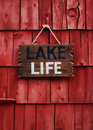 Lake life sign Royalty Free Stock Photo
