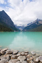 Lake louise banff alberta canada is a famous tourist spot in national park Royalty Free Stock Photos