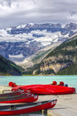 Lake louise beautiful in banff national park canada Stock Photo