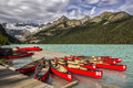 Lake louise beautiful in banff national park canada Stock Photography