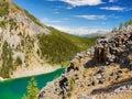 Lake Louise - Hikes, Canadian Rockies Royalty Free Stock Photo
