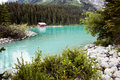 Lake louise scenic view of banff national park alberta canada Royalty Free Stock Photography