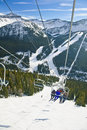 Lake Louise Ski Resort Royalty Free Stock Photo
