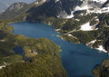 Lake loverley in the rock mountains canada aerial view of rocky british columbia western Stock Photos