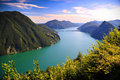 Lake Lugano Royalty Free Stock Photo