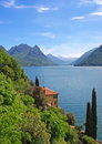 Lake Lugano,Ticino,Switzerland Royalty Free Stock Photography
