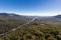 Lake lure north carolina as seen from chimney rock national park Stock Images