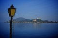 Lake maggiore near arona village on a sunny day Royalty Free Stock Photography