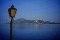 Lake maggiore near arona village on a sunny day Royalty Free Stock Photography