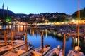 Lake maggiore switzerland night scene of the beautiful resort of ascona on in the canton of ticino Stock Image