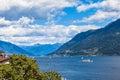 Lake maggiore view of in ticino switzerland Stock Photos