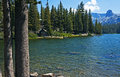 Lake mamie hideaway mountain cabin on in the sierra nevada near mammoth lakes california Stock Photos