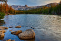 Lake mamie sunrise near mammoth lakes at in the california eastern sierra mountians Stock Photography
