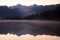 Lake Matheson sunrise, New Zealand Royalty Free Stock Photo