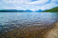 Lake mcdonald in glacier national park montanaa Royalty Free Stock Photo