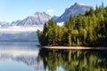 Lake mcdonald montana usa september view of lake mcdonal in on unidentified people Royalty Free Stock Image