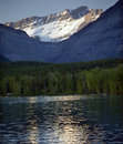 Lake McDonald Snow Mountain Glacier National Park Stock Photography