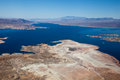 Lake mead aerial view america arizona and nevada Stock Photo
