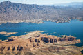 Lake mead aerial view america arizona and nevada Royalty Free Stock Photo