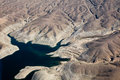 Lake mead aerial view america arizona and nevada Royalty Free Stock Image