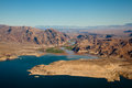 Lake mead aerial view america arizona and nevada Royalty Free Stock Photos