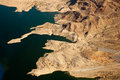 Lake mead aerial view america arizona and nevada Royalty Free Stock Photography