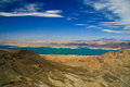 Lake mead surrounded by rocks colorado river las vegas nevada usa Stock Photo