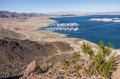 Lake mead usa panoramic view of arizona and nevada Royalty Free Stock Photography