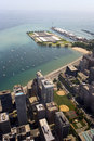 Lake Michigan and Navy Pier Stock Image