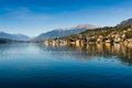 The lake of millstatt view am see on alpine austria Stock Photo