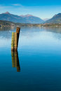 The lake of millstatt view seeboden on alpine austria Stock Photos