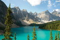 Lake moraine canada in banff national park alberta Stock Images