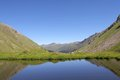 Lake in the mountains caucasus russia Stock Photography