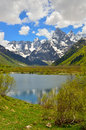 Lake in mountains this is caucasus valley Royalty Free Stock Images