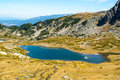 Lake in the mountains mountain glacial period of bulgaria Royalty Free Stock Image