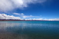 Lake in nam co tibet a small near Stock Photography
