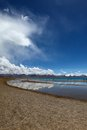 Lake in nam co tibet a small near Royalty Free Stock Photography