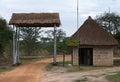Lake nburo national park entrance gate of the in uganda africa Royalty Free Stock Images