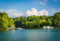 Lake Norman, at Jetton Park, in Cornelius, North Carolina. Royalty Free Stock Photo