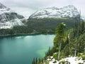 Lake o hara yoho national park canada british columbia Royalty Free Stock Photo