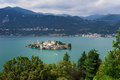 Lake orta san giulio island beautiful small in the middle of italy Royalty Free Stock Photo
