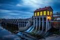 Lake Overholser Dam in Oklahoma City Royalty Free Stock Photo