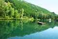 Lake in park armenian mountain city jermuk Stock Photo