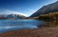Lake Pearson / Moana Rua Wildlife Refuge located in Craigieburn Forest Park in Canterbury region, South Island of New Zealand Royalty Free Stock Photo